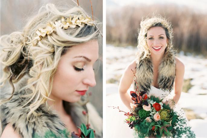 Orange Photographie / Hair & Makeup: Alexa Mae / Flowers & Styling: Katalin Green / Dress: Poppy Bride  / Wedding Hair Style