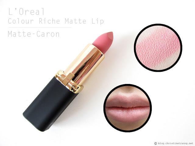 L'Oreal Colour Riche Matte Lipstick. Review and Swatches of 800 Matte-Caron
