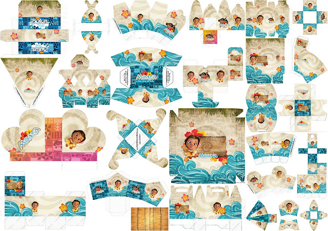 Moana Baby: Free Printable Boxes.