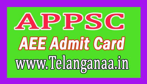 Andhra Pradesh Public Service Commission (APPSC) AEE Admit Card 2016 Download