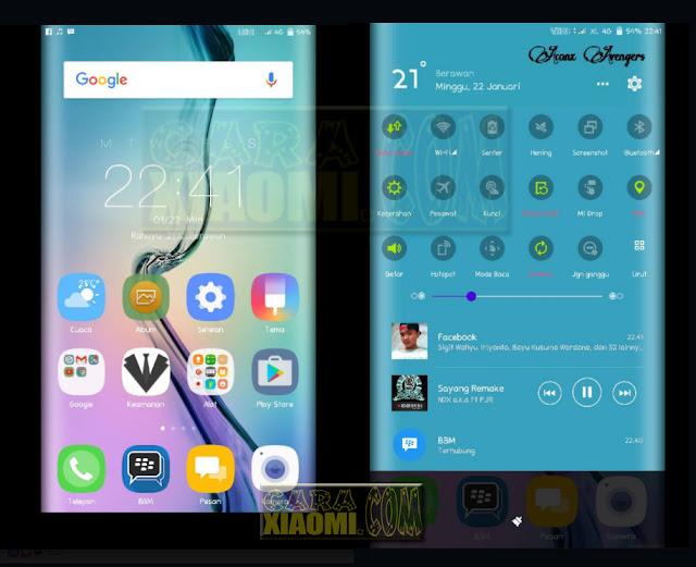Tema Xiaomi Samsung S7 Edge Mtz Terbaru Merubah Tampilan MIUI Seperti Efek Lengkung