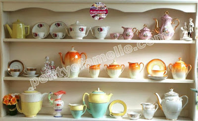 Antique French Potteries, Vintage Coffee Pots Teapots Set Kitchen Decorating Ideas