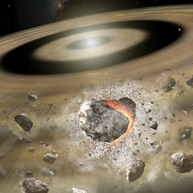 Collisions generate gas in debris disks