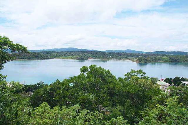ocean, sky, hills, Unten Port, Okinawa