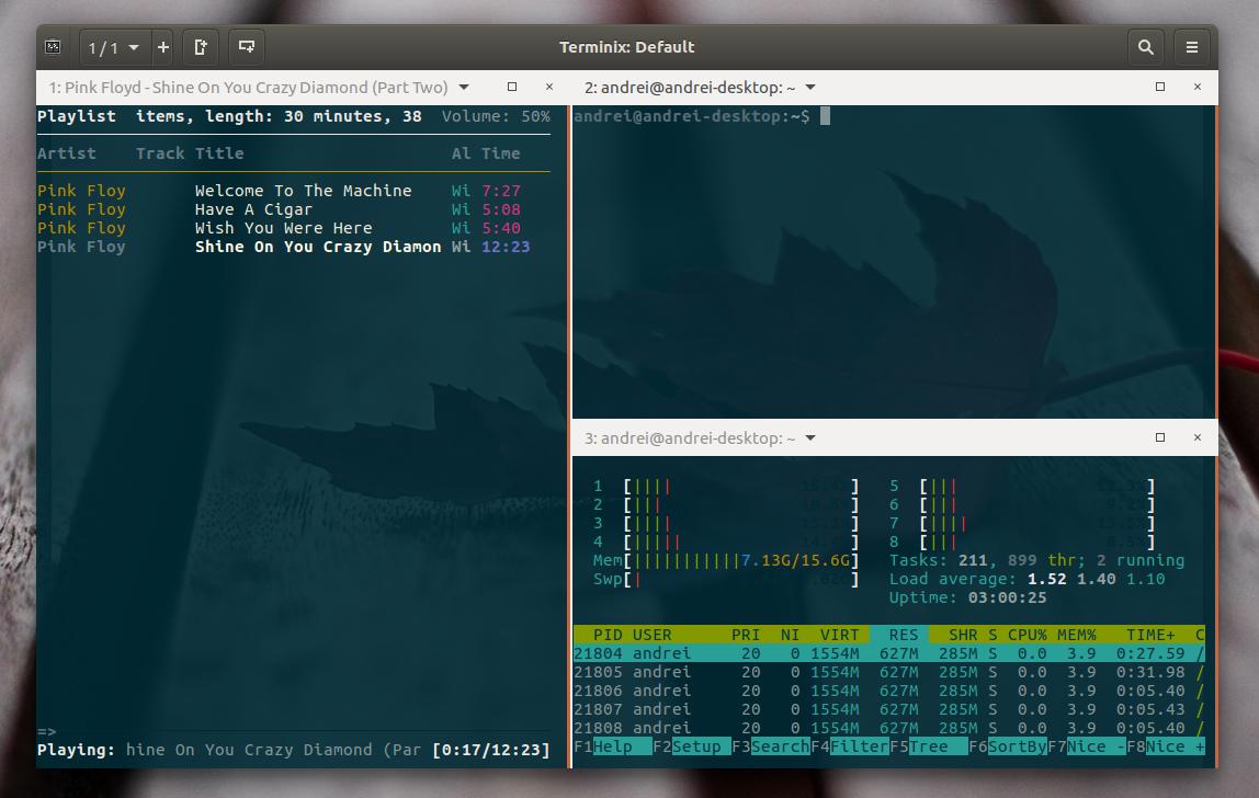 GTK3 Tiling Terminal Emulator `Terminix` 1 1 0 Beta Released