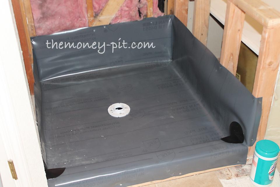 Master Bathroom Days 5-7: Shower Pan Preslope and Liner