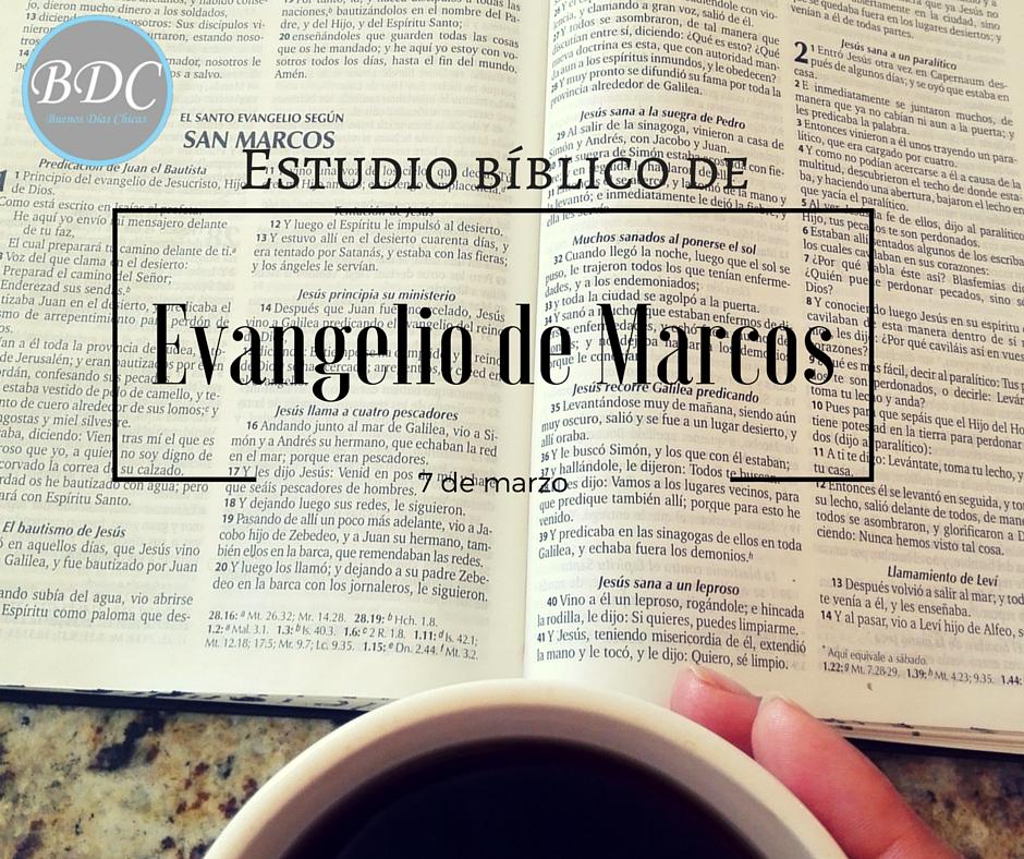 Estudio bíblico para mujeres del {Evangelio de Marcos} gratuito, diario devocional gratis y grupos de apoyo y estudio.