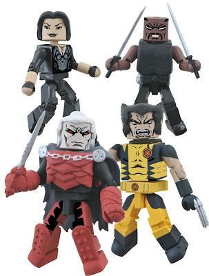 Curse of the Mutants Marvel Minimates Box Set - Jubilee, Blade, Dracula & Wolverine