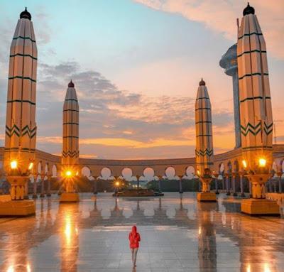 Keindahan Wisata Religi Masjid Agung Jawa Tengah