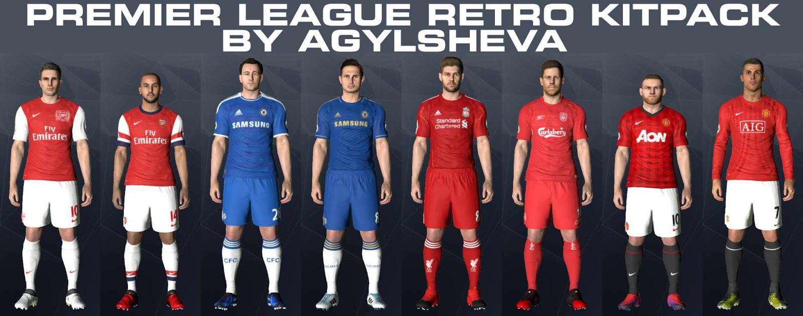85de48ac414 PES 2017 Premier League Retro Kits-Pack