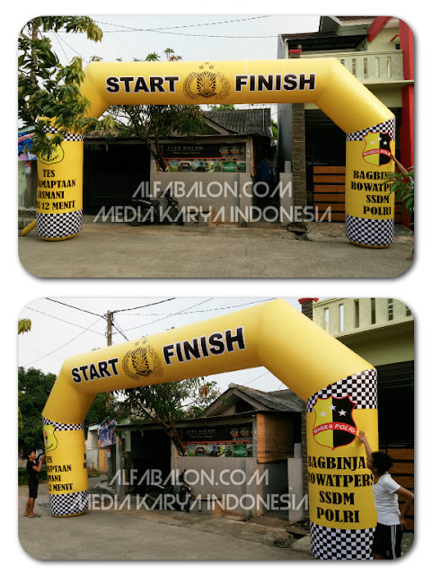 Balon gate start dan finish