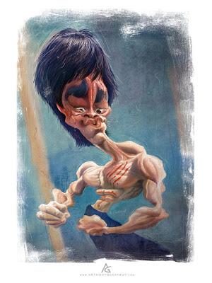 caricatura se Bruce Lee
