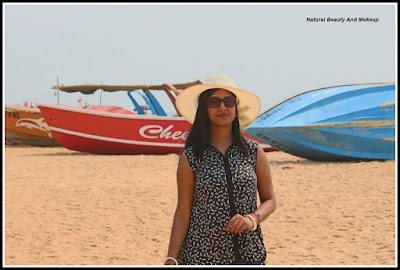 blogger anamika at Calangute Beach, North Goa