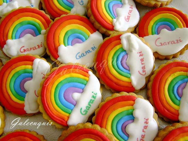 Galletas bautizo arco iris