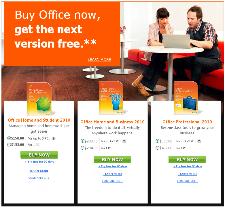 Get Office 2013 Free Upgrade When You Buy Office 2010