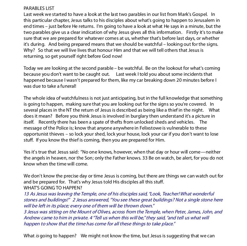 The Watchful Servant   Mark Reid Sermons 2014