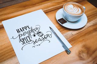 happy pumpkin spice season typography