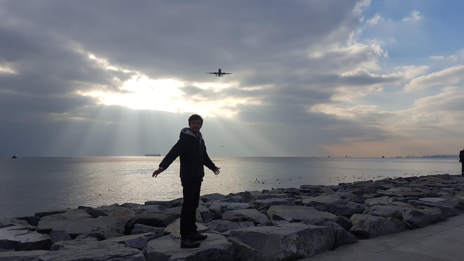 Harun İstenci Uçak manzarası kamera arkası, Türk Hava Yolları, Milyon dolarlık fotoğraf karesi