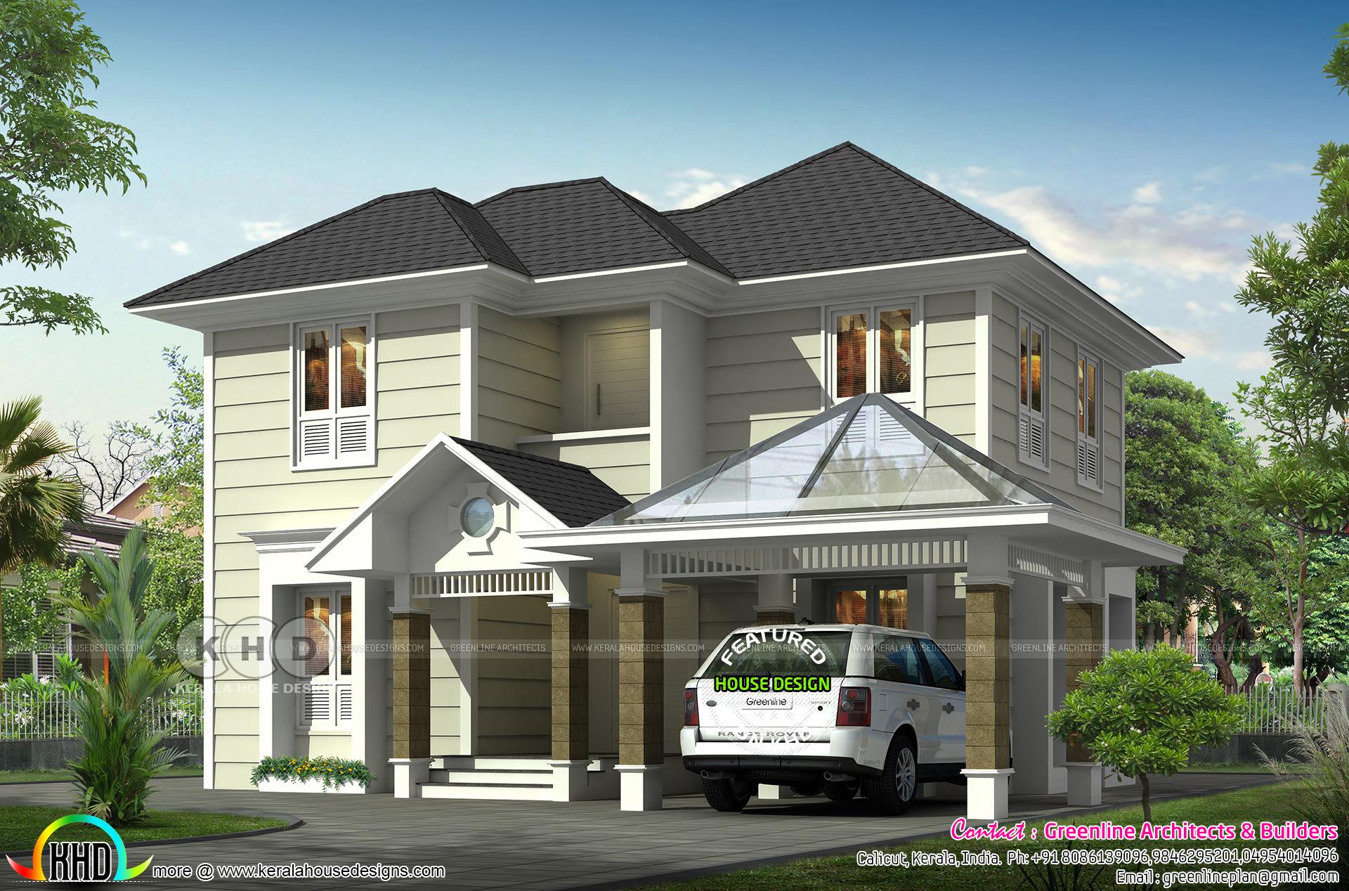 4 BHK Victorian model house plan   Kerala home design ... Nadumuttam Inside Model House Plans In Kerala on