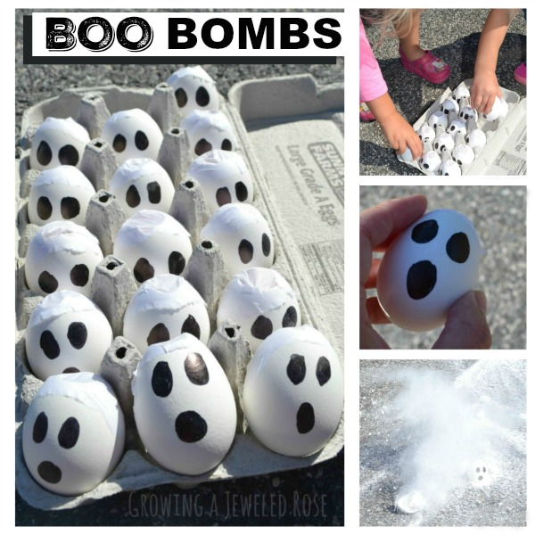 Smoking BOO Bombs- a super fun Halloween activity for kids.  These are easy to make and cost next to nothing, always a bonus.