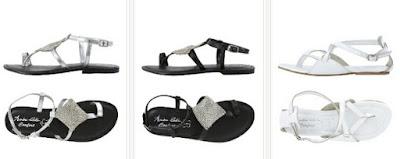 Sandalias planas de piel