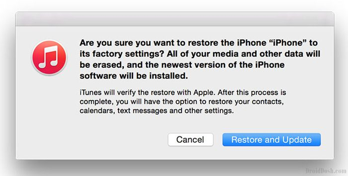 Restore and Update iPhone