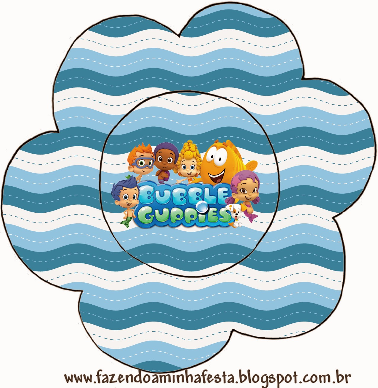 Bubble Guppies Free Printable Invitations. | Oh My Fiesta ...