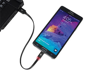 This Reversible Micro-USB Cable (with Either Side Up) to Charge & Sync Your Device