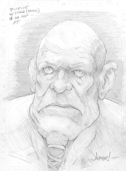 Pencil sketch: Haruldius - Copyright - 2015 - Jephyr
