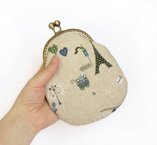 шитье, косметичка, frame purse, Paris