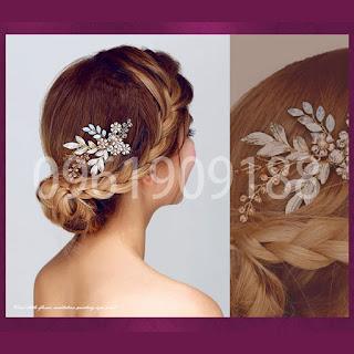 Hoa cài tóc cô dâu xinh xắn, hiện đại chắc chắn bạn sẽ thích