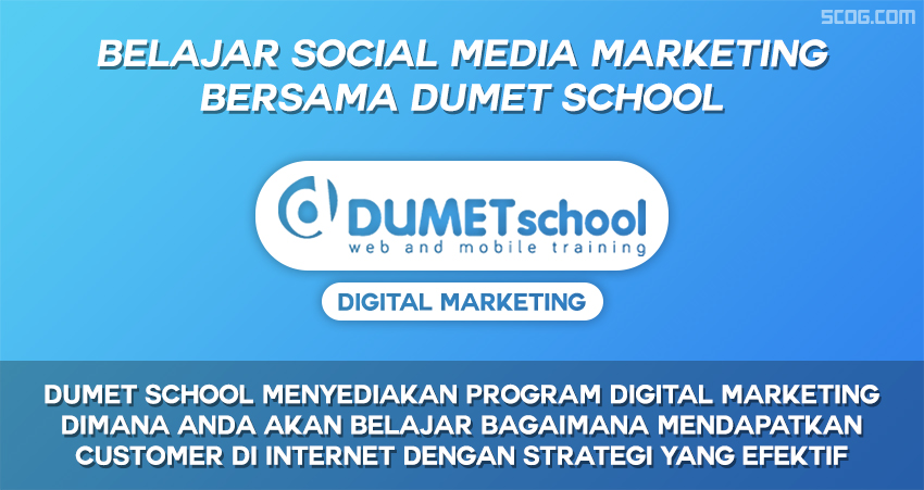 DUMET School, kursus tentang social media (digital marketing)