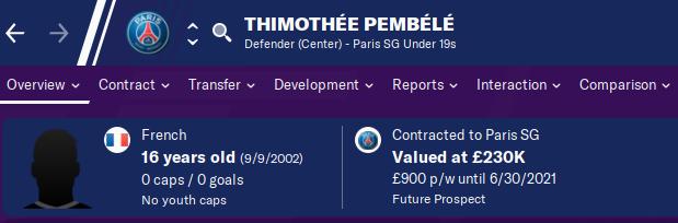 FM20 Wonderkid Analysis - Thimothee Pembele