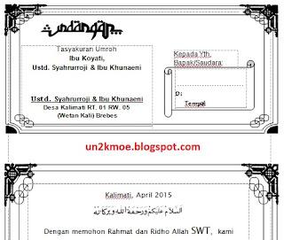 Undangan Tasyakuran Umroh Doc | Download Undangan Gratis