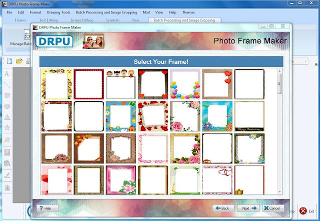 برنامج تركيب اطارات الصور DRPU Photo Frame Maker