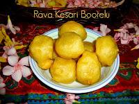 images for Rava Kesari Boorelu Recipe / Halwa Boorelu Recipe / Sooji Halwa Boorelu / Boorelu Recipe