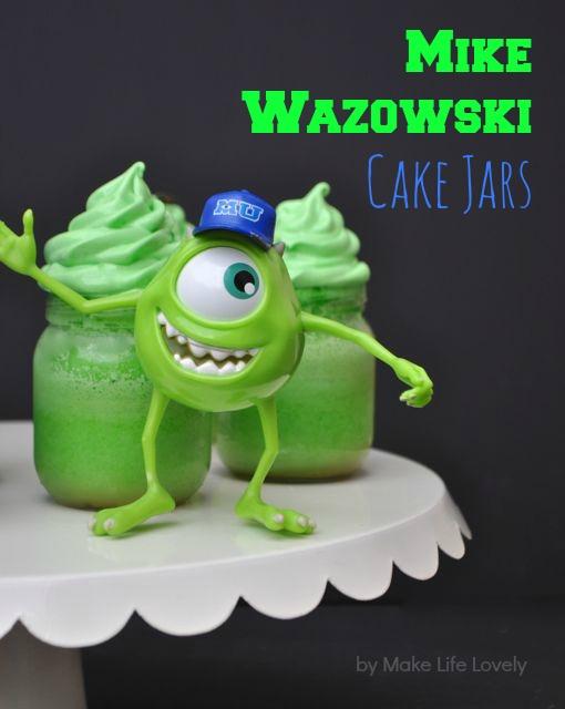 Monsters University Cakes in a JarMonster University Mike Wazowski Cake