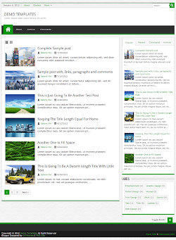 JPStation Green Blogger Template