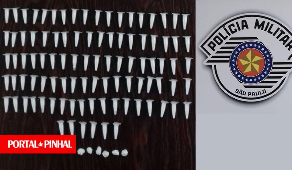 Polícia Militar apreende 96 pinos de cocaína e 10 pedras de crack no Jardim Varan