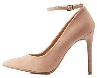Charlotte russe nude ankle strap pumps