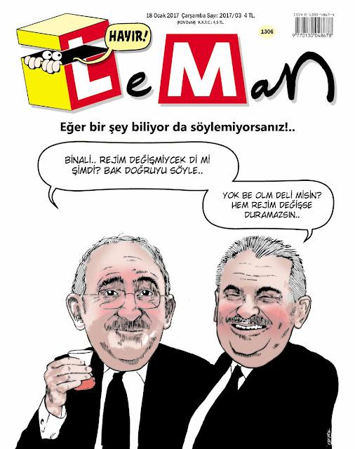 Leman Dergisi | 18 Ocak 2017 Kapak Karikatürü
