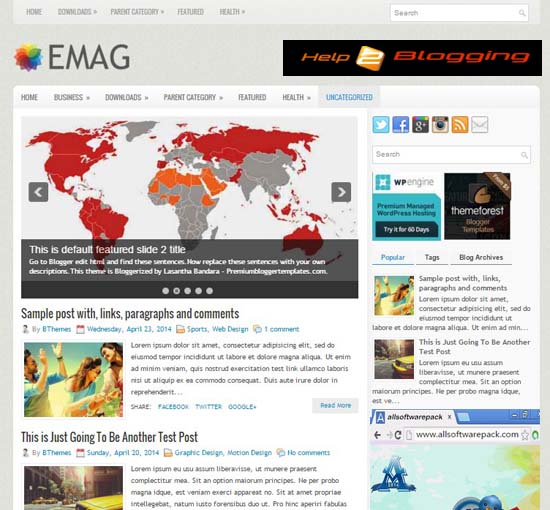 eMag Responsive Flat Blogger Template Free Download