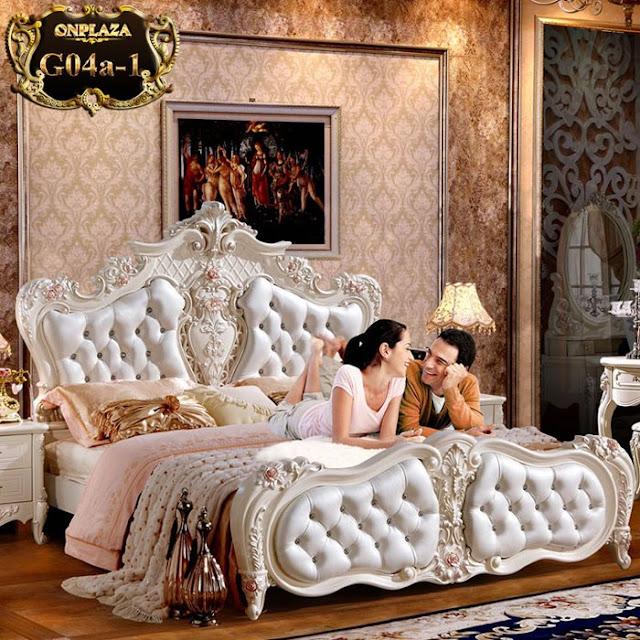 Giường ngủ cho phòng cưới kiểu tân cổ điển châu âu giá rẻ