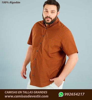 Camisas tallas grandes Huánuco