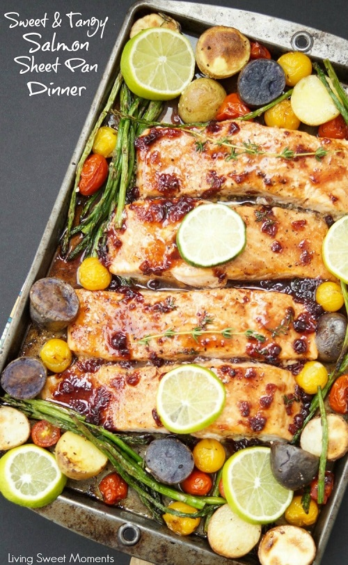 Tangy Salmon Sheet Pan Dinner