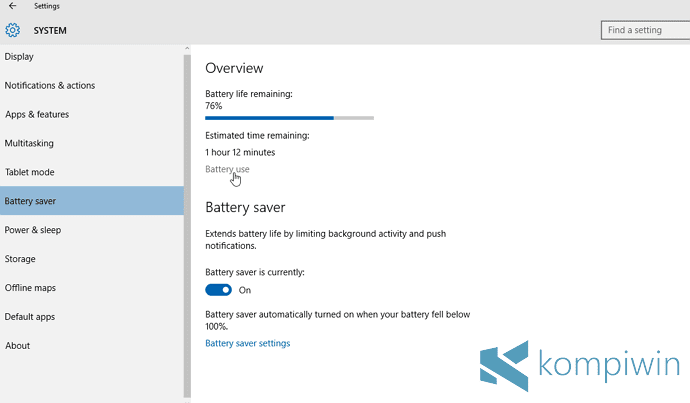4 Tips Menghemat Baterai Laptop di Windows 10 dengan Fitur Battery Saver 7