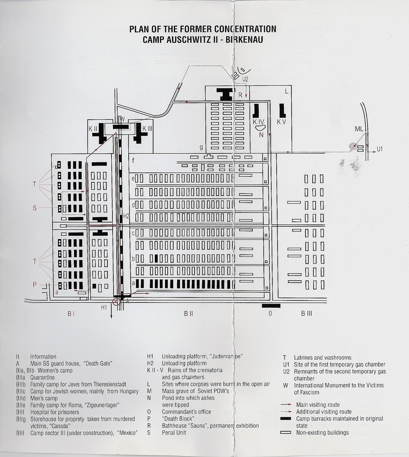 guide to birkenau  map s style  photo of original guide. best travel guide to krakow poland auschwitz