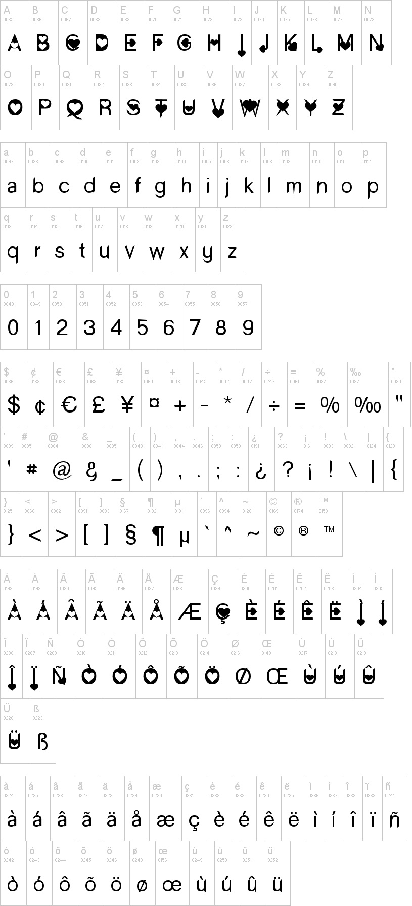 Paris Enamorado tipografia abecedario