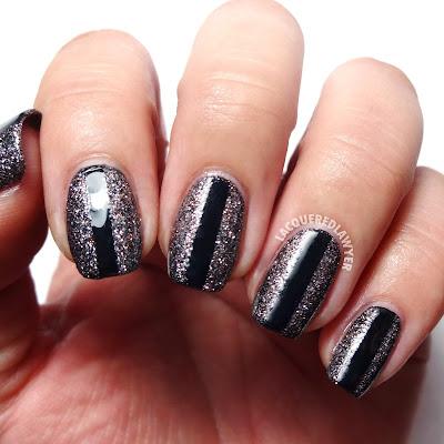 Graphite Glitter Nails