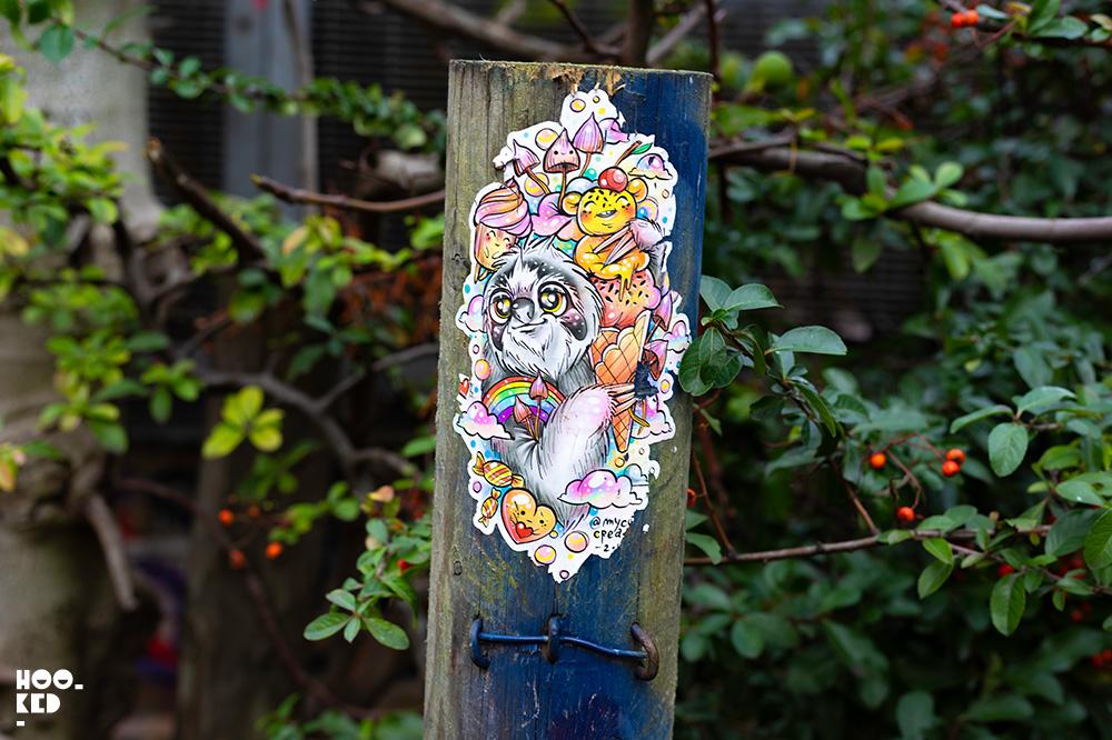 My Cute Creatures - Shoreditch Street Art Stickers on Pedley Street